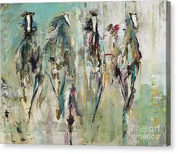 Spooked Canvas Print by Frances Marino