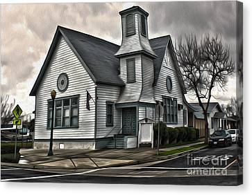 Spooky Church Canvas Print by Gregory Dyer