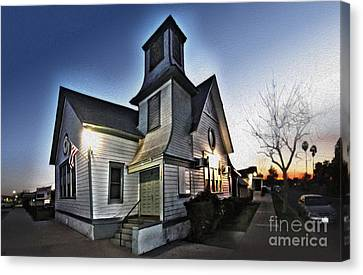 Spooky Church In Chino - 03 Canvas Print by Gregory Dyer
