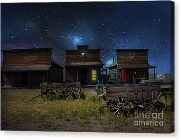 Spooky Ghost Town Canvas Print by Juli Scalzi