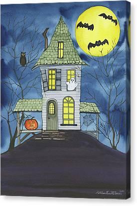 Spooky Halloween Canvas Print by Kathleen Parr Mckenna