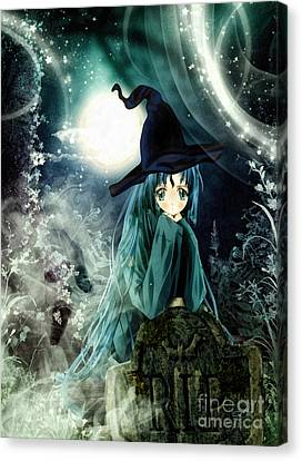 Spooky Night Canvas Print by Mo T