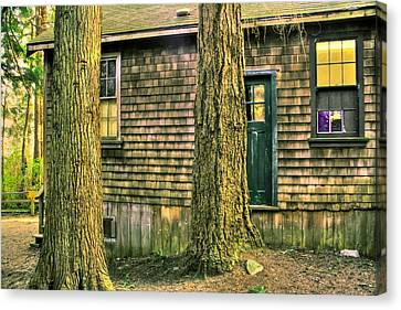 Spooky Old Cabin Canvas Print by Eti Reid