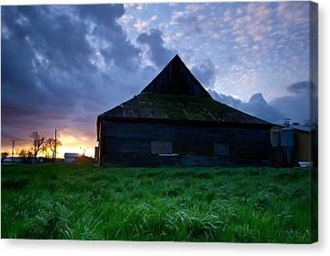 Spooky Shadow Barn Canvas Print by Eti Reid