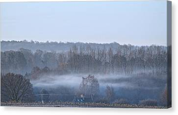Spooky Winters Morning Canvas Print by Karen Grist