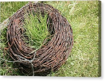 Spool Of Rusted Barbed Wire, Tucumcari Canvas Print