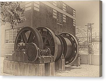 Spools And Gears Canvas Print