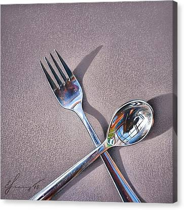Spoon And Fork 2 Canvas Print