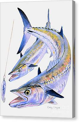 Pompano Canvas Print - Spoon King by Carey Chen
