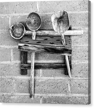 Canvas Print featuring the photograph Spoon Rack by Beverly Parks