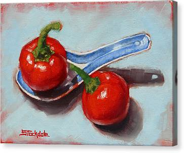 Canvas Print featuring the painting Spoonful Of Chilli by Margaret Stockdale