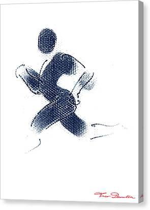 Jogging Canvas Print - Sport A 1 by Theo Danella