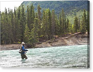 Sport Fishing Canvas Print by Chris Heitstuman