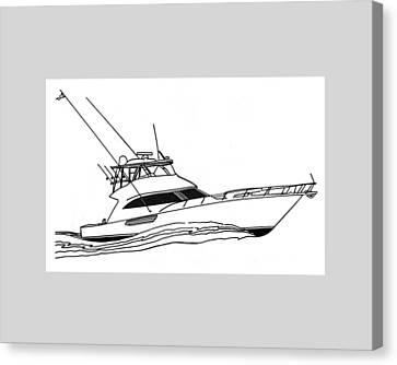 Sport Fishing Yacht Canvas Print by Jack Pumphrey