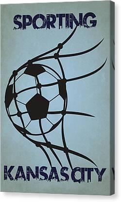 Sporting Kansas City Goal Canvas Print by Joe Hamilton