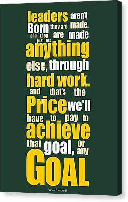Sports Quotes Poster Canvas Print by Lab No 4 - The Quotography Department
