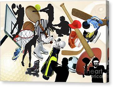 Sports Sports Sports Canvas Print by Susan  Lipschutz