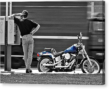 Sportster Calling Canvas Print by Christopher McKenzie