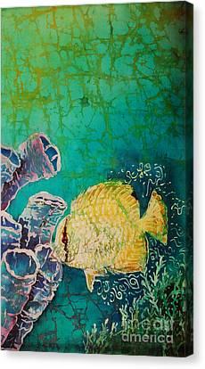 Spotfin Butterflyfish  Canvas Print by Sue Duda
