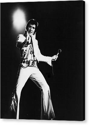 Spotlight Behind Elvis Presley Canvas Print