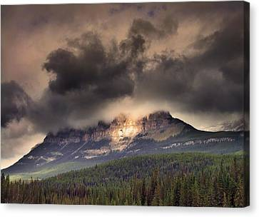 Spotlight On Castle Mountain Canvas Print