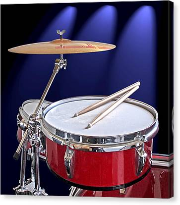 Concert Images Canvas Print - Spotlight On Drums by Gill Billington