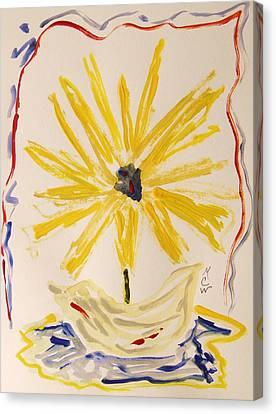 Spotlight On Yellow Canvas Print by Mary Carol Williams