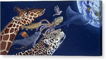 Spots Collage Canvas Print by Laura Regan