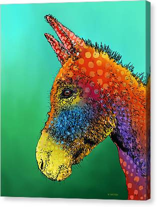 Spotted Donkey Canvas Print by Marlene Watson