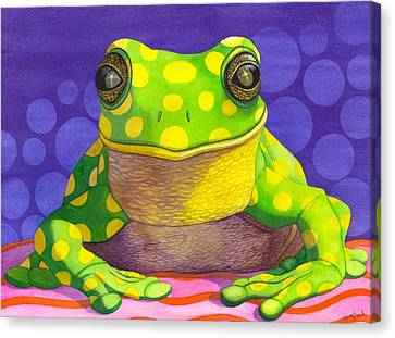 Spotted Frog Canvas Print