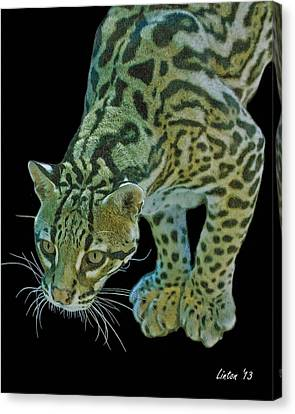 Spotted Predator Canvas Print by Larry Linton