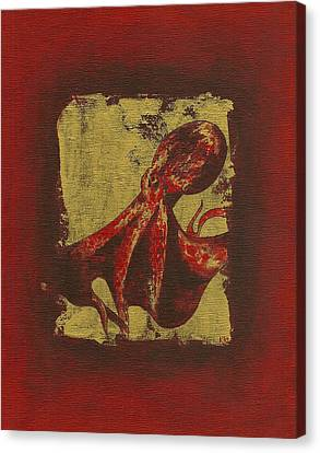 Spotted Red Octopus Canvas Print