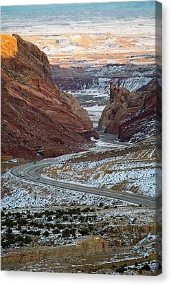 San Rafael Swell Canvas Print - Spotted Wolf Canyon by Jim West