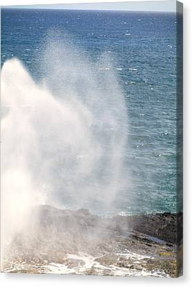 Canvas Print featuring the photograph Spouting Horn II by Alohi Fujimoto