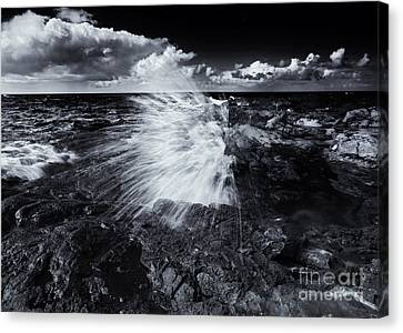 Blowhole Canvas Print - Spray by Mike  Dawson