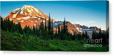 Spray Park Panorama Canvas Print by Inge Johnsson