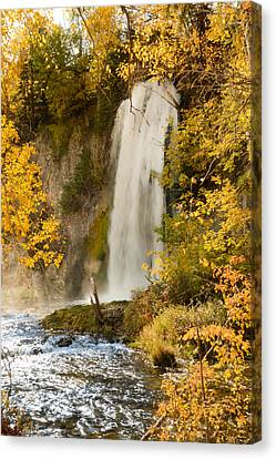 Spray Rises From Spearfish Falls Canvas Print