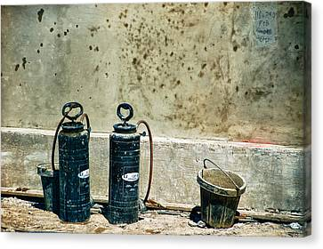 Canvas Print featuring the photograph Sprayers And Buckets by Trever Miller