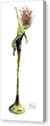 Blue Grapes Canvas Print - Spread Wings A Sculpture By Adam Long by Adam Long