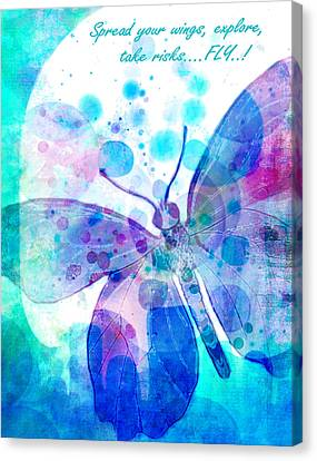 Spread Your Wings Canvas Print by Robin Mead