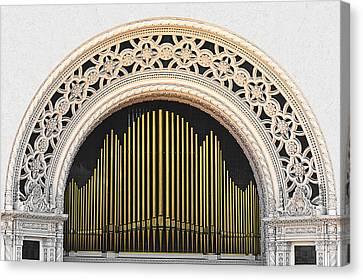 Spreckels Organ Balboa Park San Diego Canvas Print