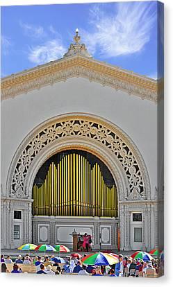 Famous Buildings Canvas Print - Spreckles Organ San Diego by Christine Till