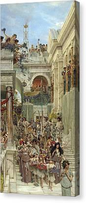 Spring Canvas Print by Sir Lawrence Alma-Tadema