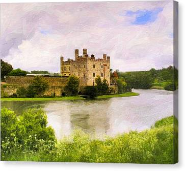 Spring At Leeds Castle Canvas Print by Mark E Tisdale