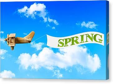 Spring Banner Canvas Print by Amanda Elwell