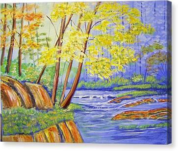 Spring Bayou Canvas Print by Belinda Lawson