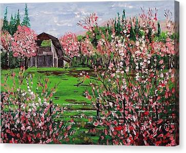Spring Bloom Canvas Print by Mike Caitham