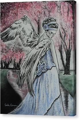 Spring Blossom Angel Canvas Print by Carla Carson