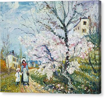 Spring Blossom Canvas Print by Henri Richet