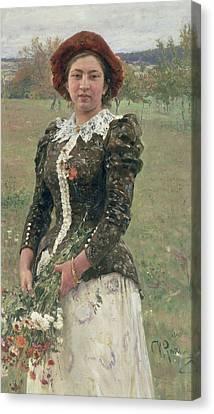 Spring Bouquet Canvas Print by Ilya Efimovich Repin